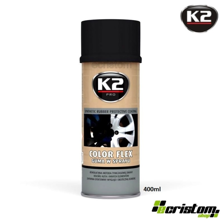 Details about K2 COLOR FLEX PLASTIC BLACK GLOSSY LIQUID RUBBER PAINT SPRAY  PROTECTIVE LAYER