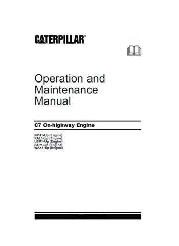 caterpillar c7 cat c 7 truck engine service repair manual all ebay rh ebay com Cat C7 Front Diagrams C7 Cat Engine Schematic Front Of